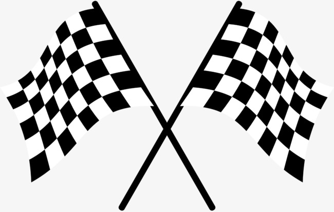 racing flag, Game, With Flags PNG Image and Clipart - Black And White Flag PNG
