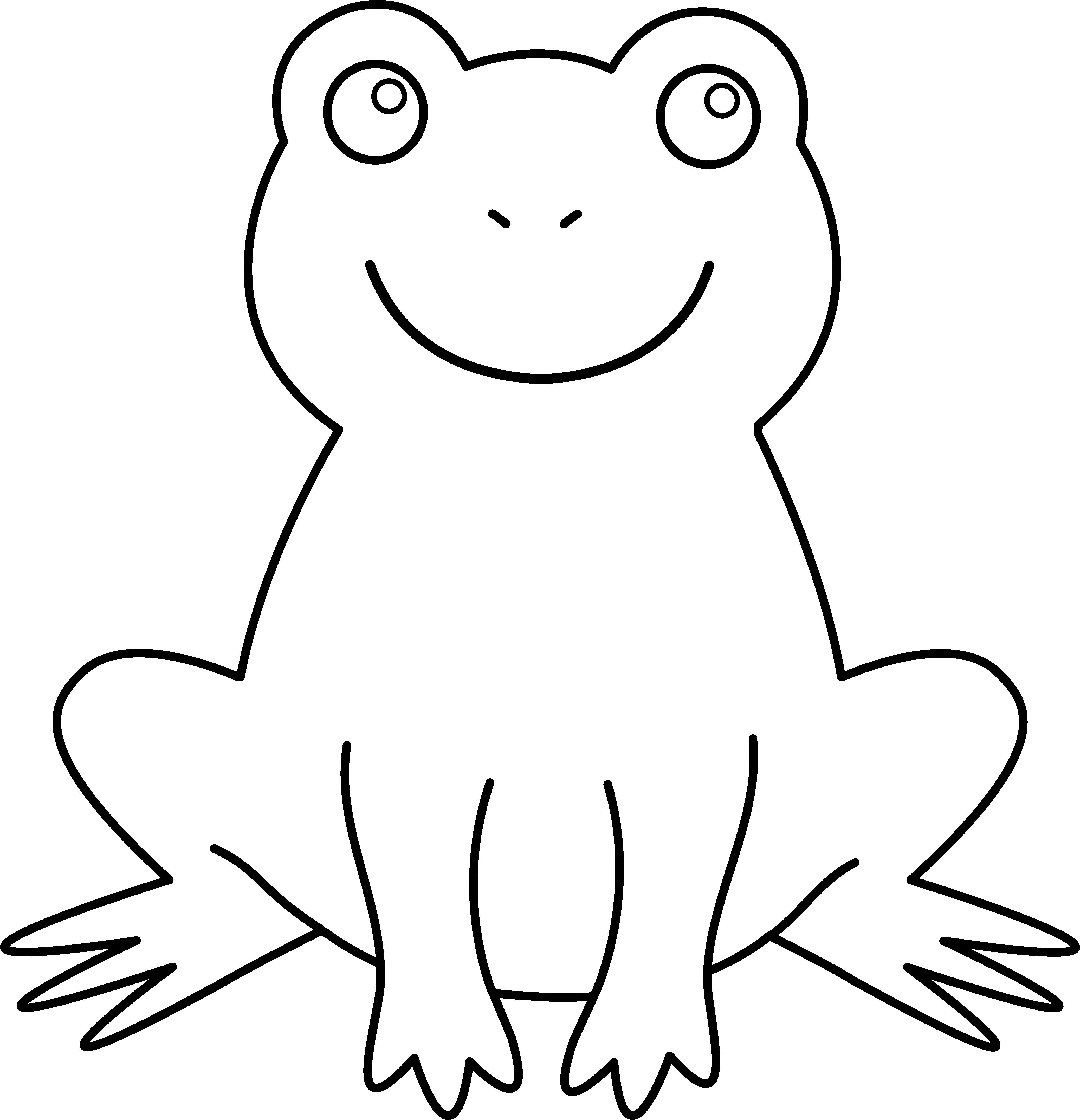 Black and White Frog - Black And White Frog PNG