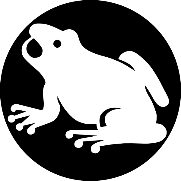 Black And White Frog PNG