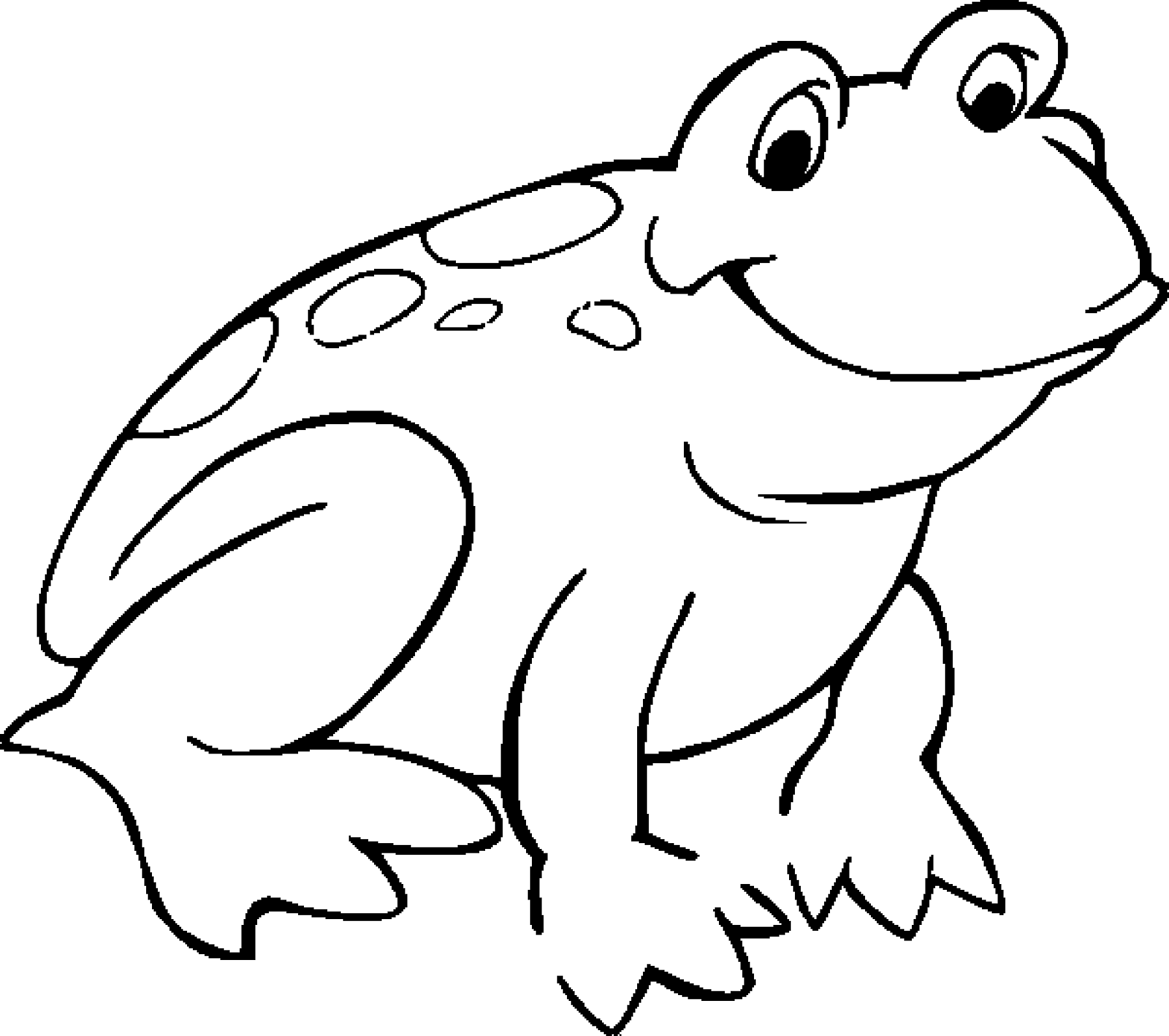 Frog Color Sheet for Kids | Kiddo Shelter - Black And White Frog PNG