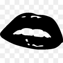 Black And White Lips PNG - 152198