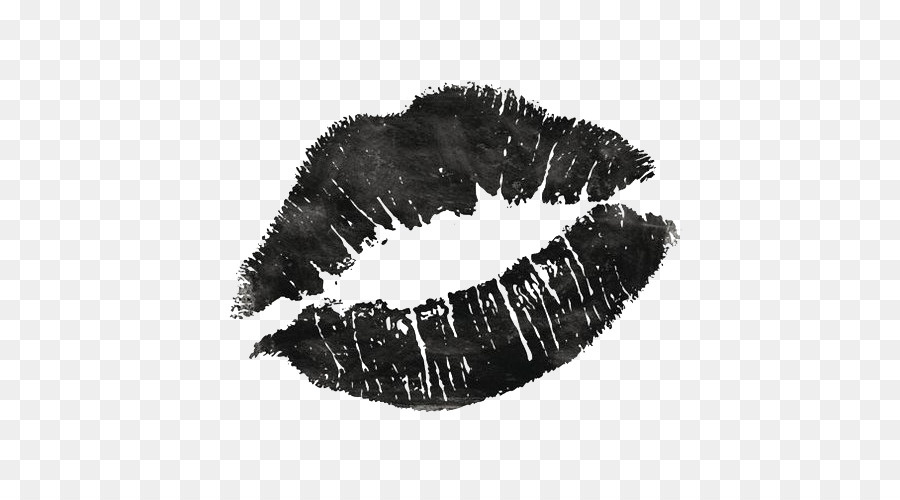 Lip Kiss Black and white Wallpaper - Free matting material Black Lips - Black And White Lips PNG