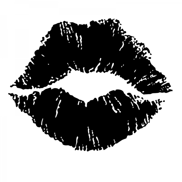 Lip Print - Scatter Kit - Black And White Lips PNG
