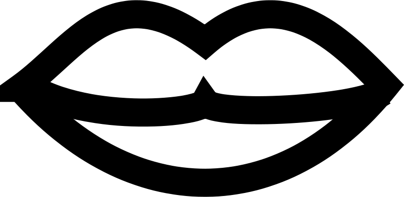 Black And White Lips PNG - 152214