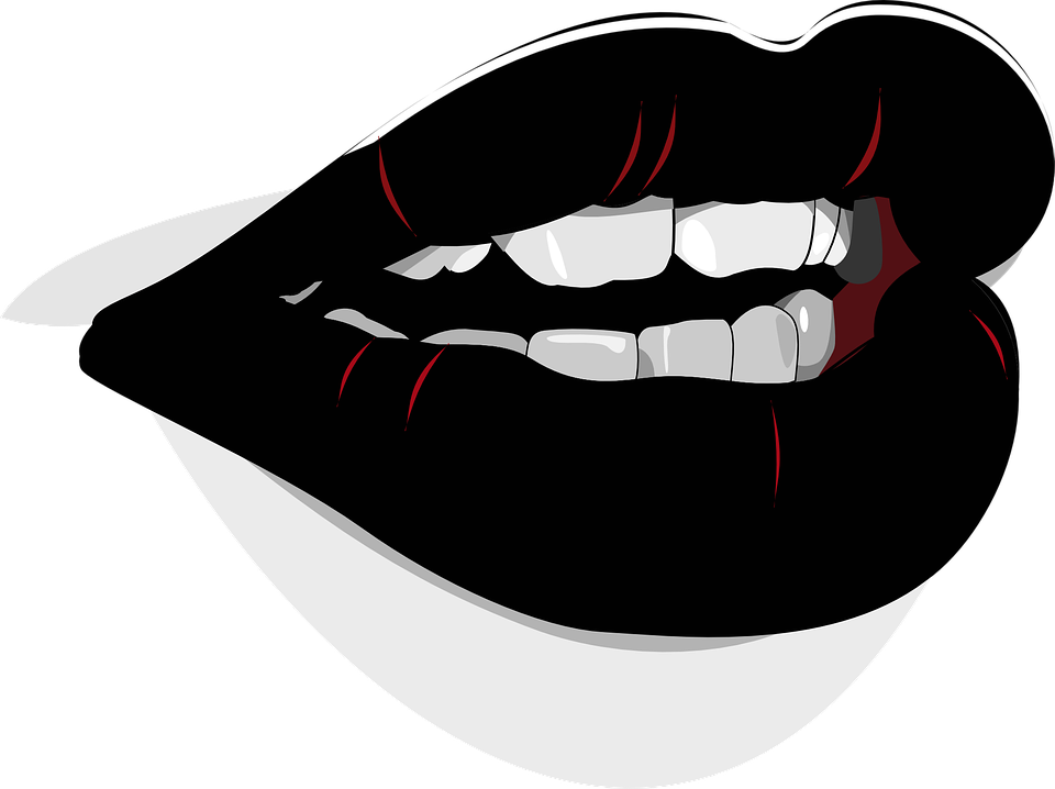 mouth lips lipstick black beauty girl fashion - Black And White Lips PNG