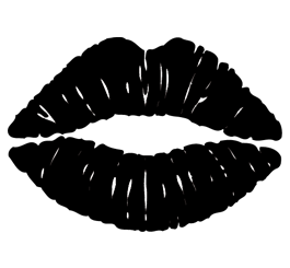 Pin by Kortney Watts on DIY | Pinterest | Lips, Stenciling and Silhouettes - Black And White Lips PNG
