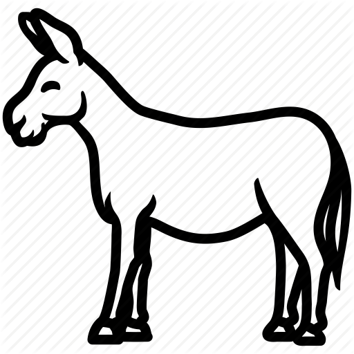 512x512 Ass, donkey, horse, jackass, mule icon Icon search engine - Black And White Mule PNG