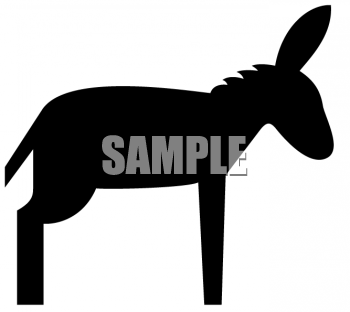 Mule Clip Art - Black And White Mule PNG