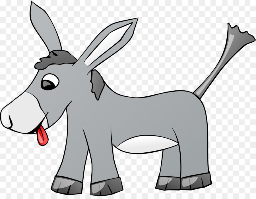 Mule Donkey Clip art - donkey - Black And White Mule PNG