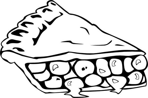 Download this image as: - Black And White Pie PNG