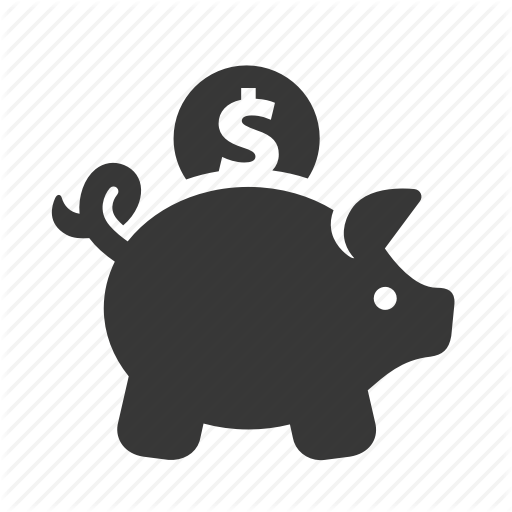 e-commerce, piggy bank, raw, savings, shopping, simple, web - Black And White Piggy Bank PNG