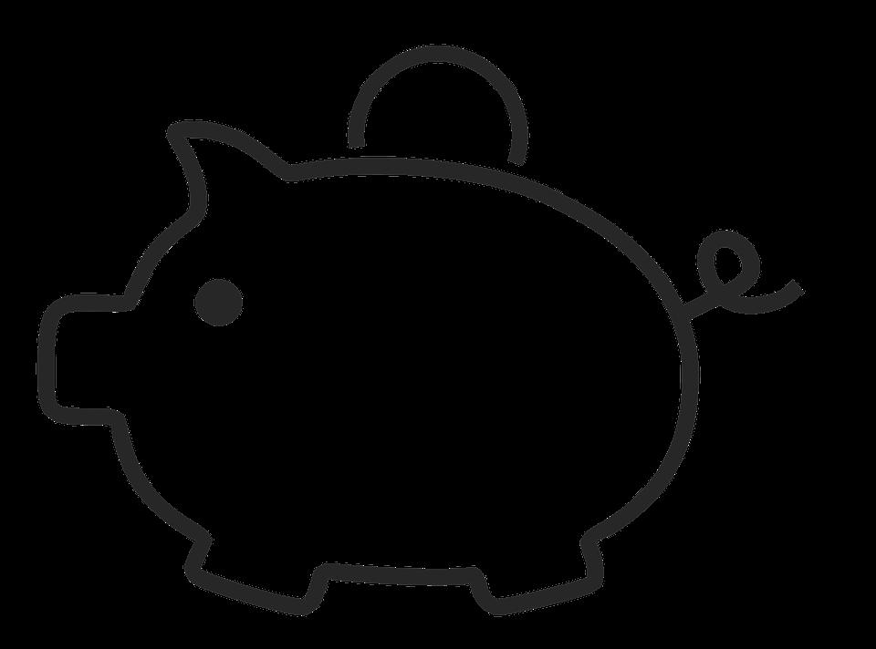 piggy bank piggybank money piggy bank financial - Black And White Piggy Bank PNG