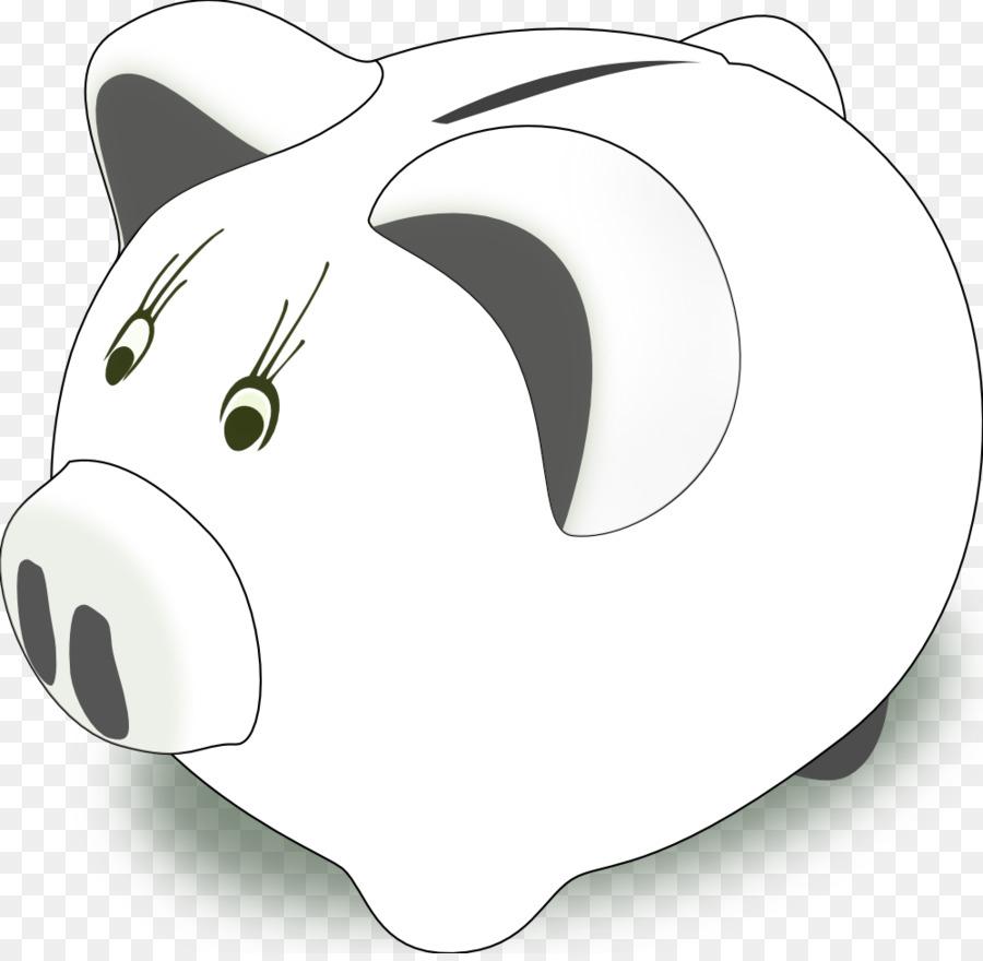 Piggy bank Saving Clip art - Piggy Bank Black And White - Black And White Piggy Bank PNG