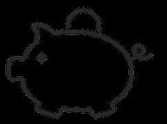 SOURCES DE FINANCEMENTS - Black And White Piggy Bank PNG