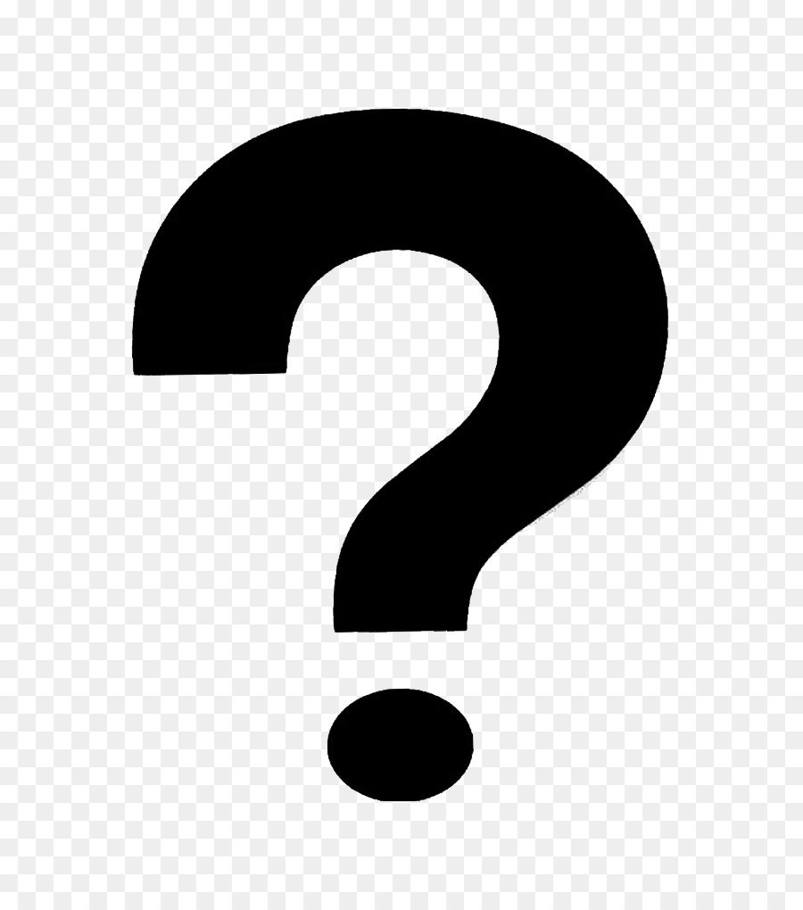 Black And White Question Mark PNG - 139755