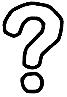Black And White Question Mark PNG - 139757