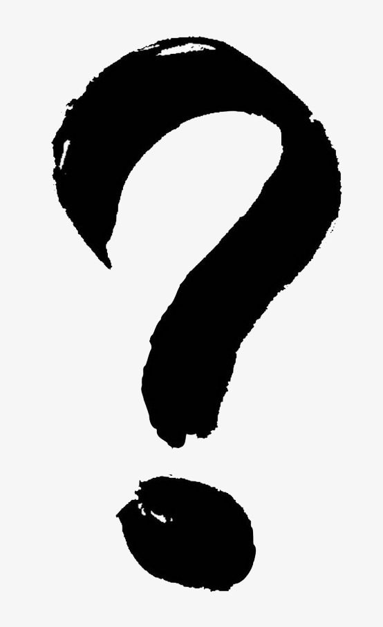 Black And White Question Mark PNG - 139758