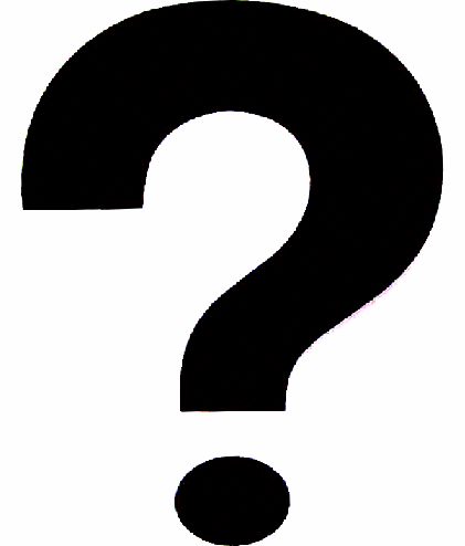 Black And White Question Mark PNG - 139752