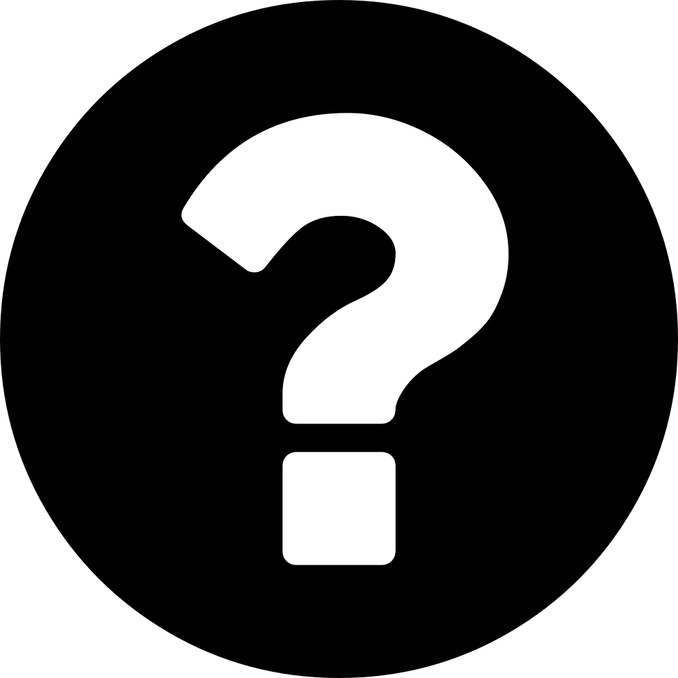 Black And White Question Mark PNG - 139750