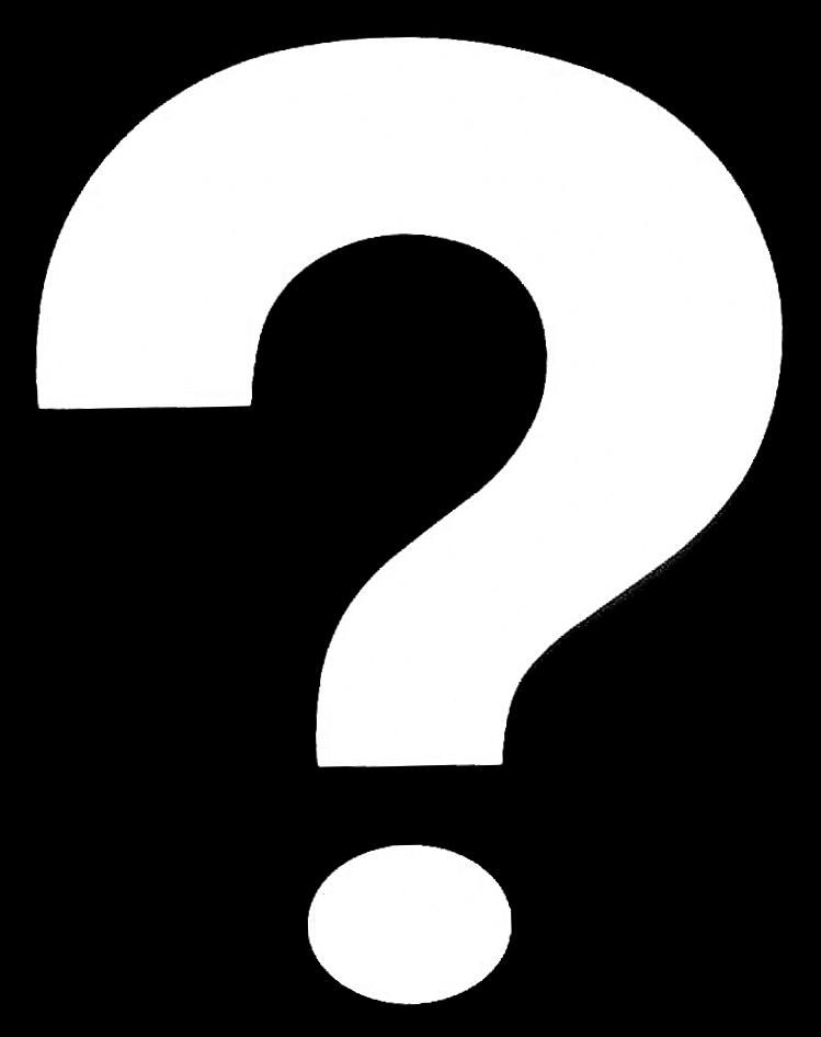 Black And White Question Mark PNG - 139760