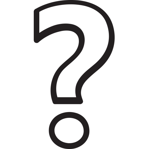Black And White Question Mark PNG - 139761