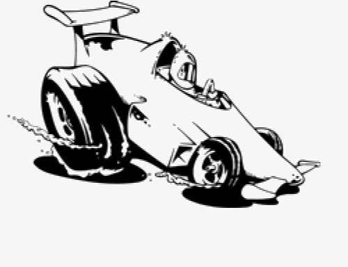 Black And White Race Car PNG Transparent Black And White
