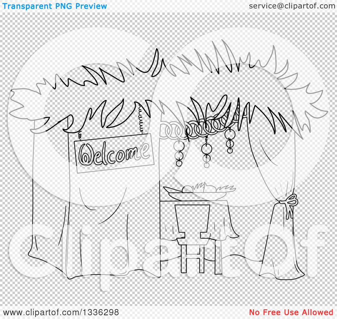 PNG file has a PlusPng.com  - Black And White Sukkot PNG