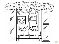 Black And White Sukkot PNG - 59556