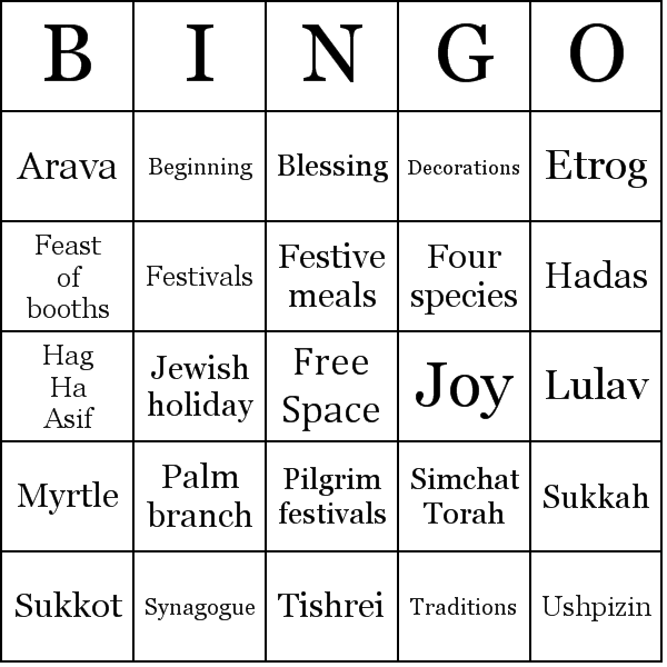 Sukkot Word Search Black And White Template | Sukkot | Pinterest | Word  search, Jewish crafts and Searching - Black And White Sukkot PNG