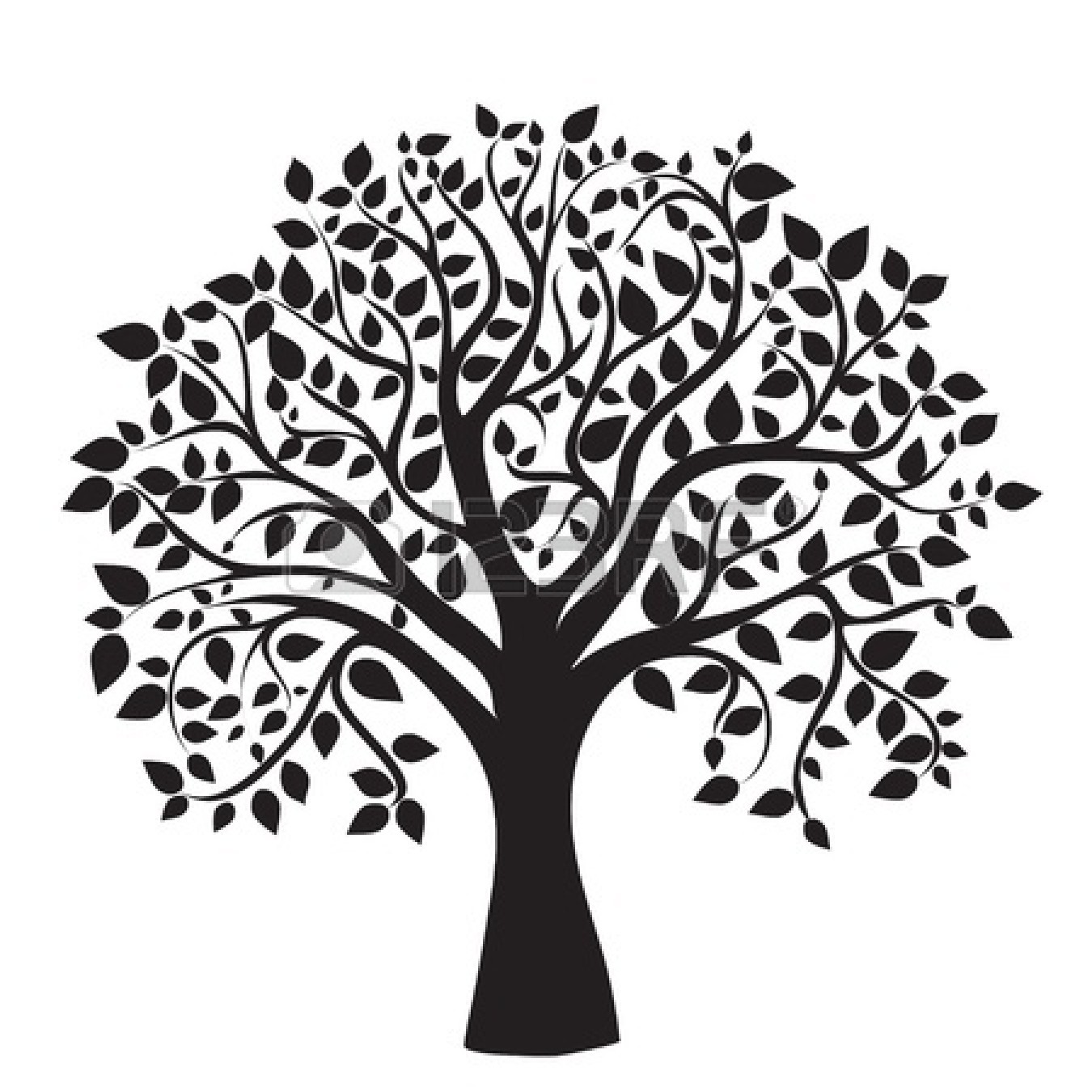 Black And White Tree Of Life PNG