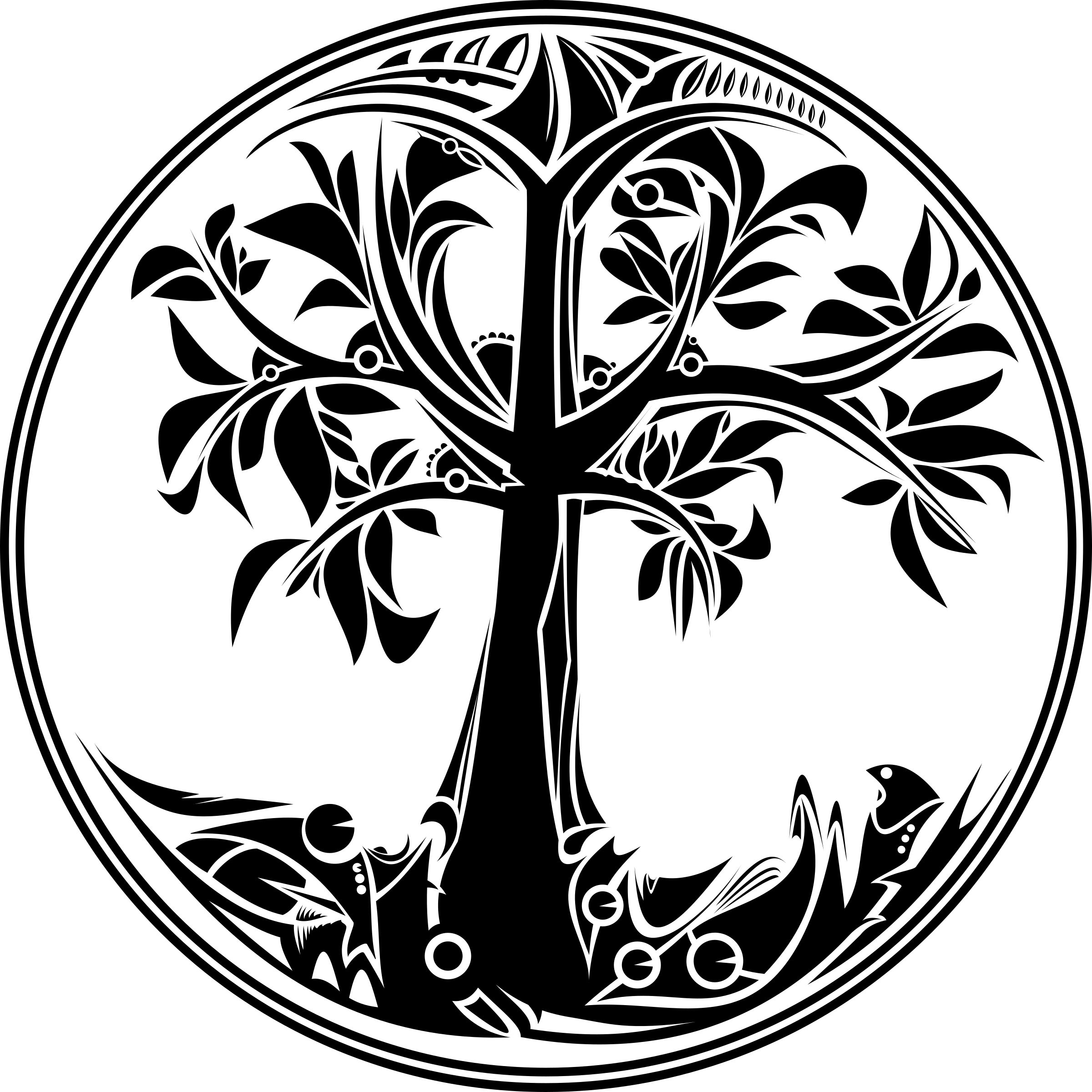 Black And White Tree Of Life PNG - 170284