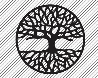 Tree Of Life Clipart - svg - ai - dxf - cdr - png -pdf - Black And White Tree Of Life PNG