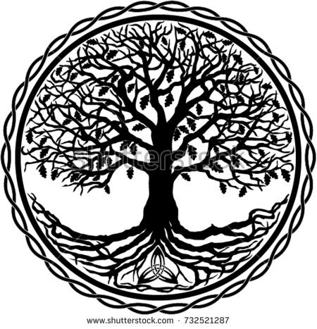 Tree of Life Silhouette - Black And White Tree Of Life PNG