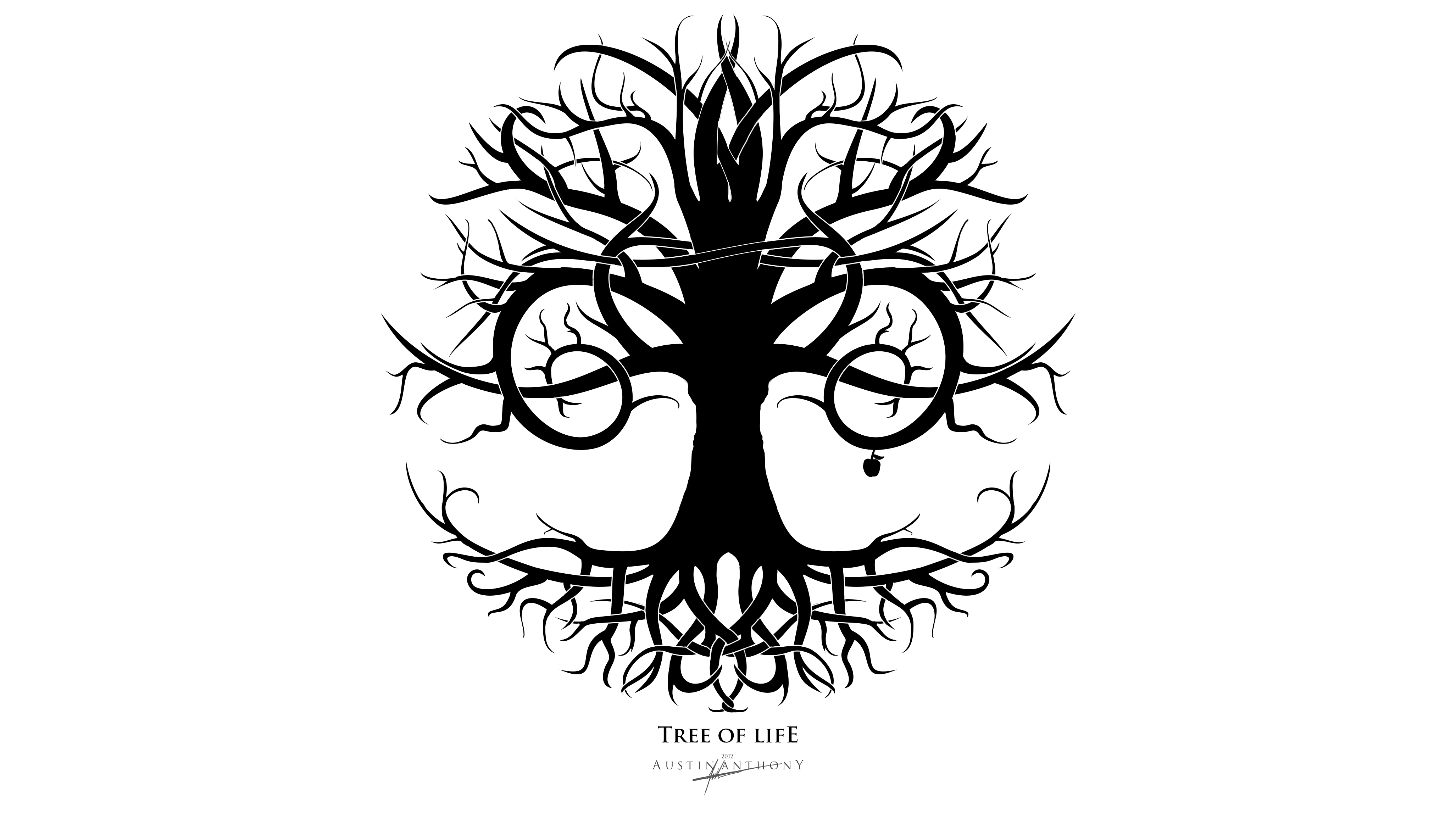 Black And White Tree Of Life PNG - 170282