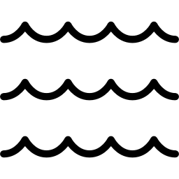 Black Wave Lines - Black And White Wave PNG