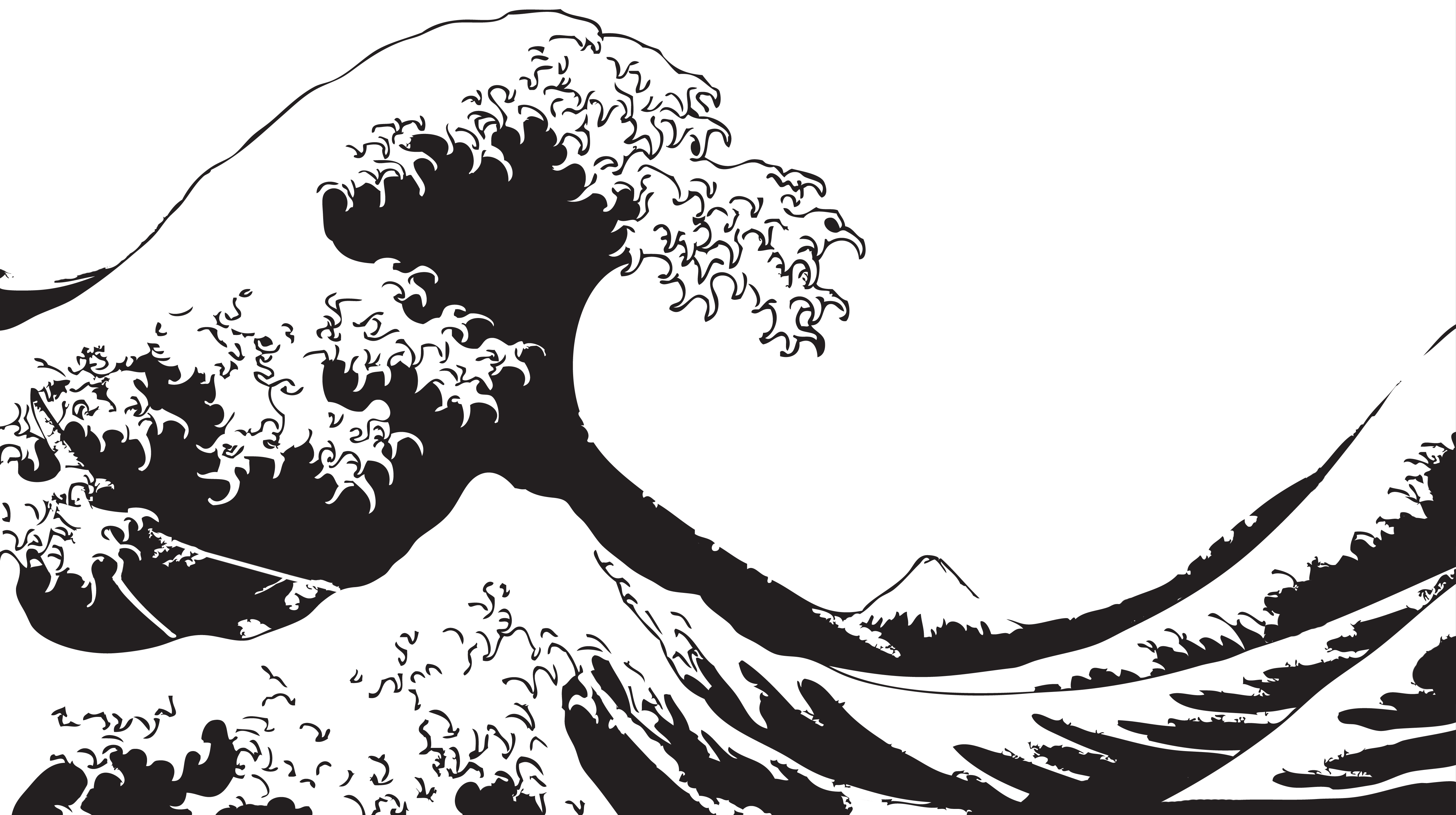 http://i.imgur pluspng.com/e3ila.png - Black And White Wave PNG