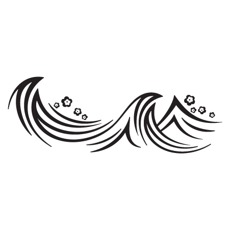 Black And White Wave PNG - 162548