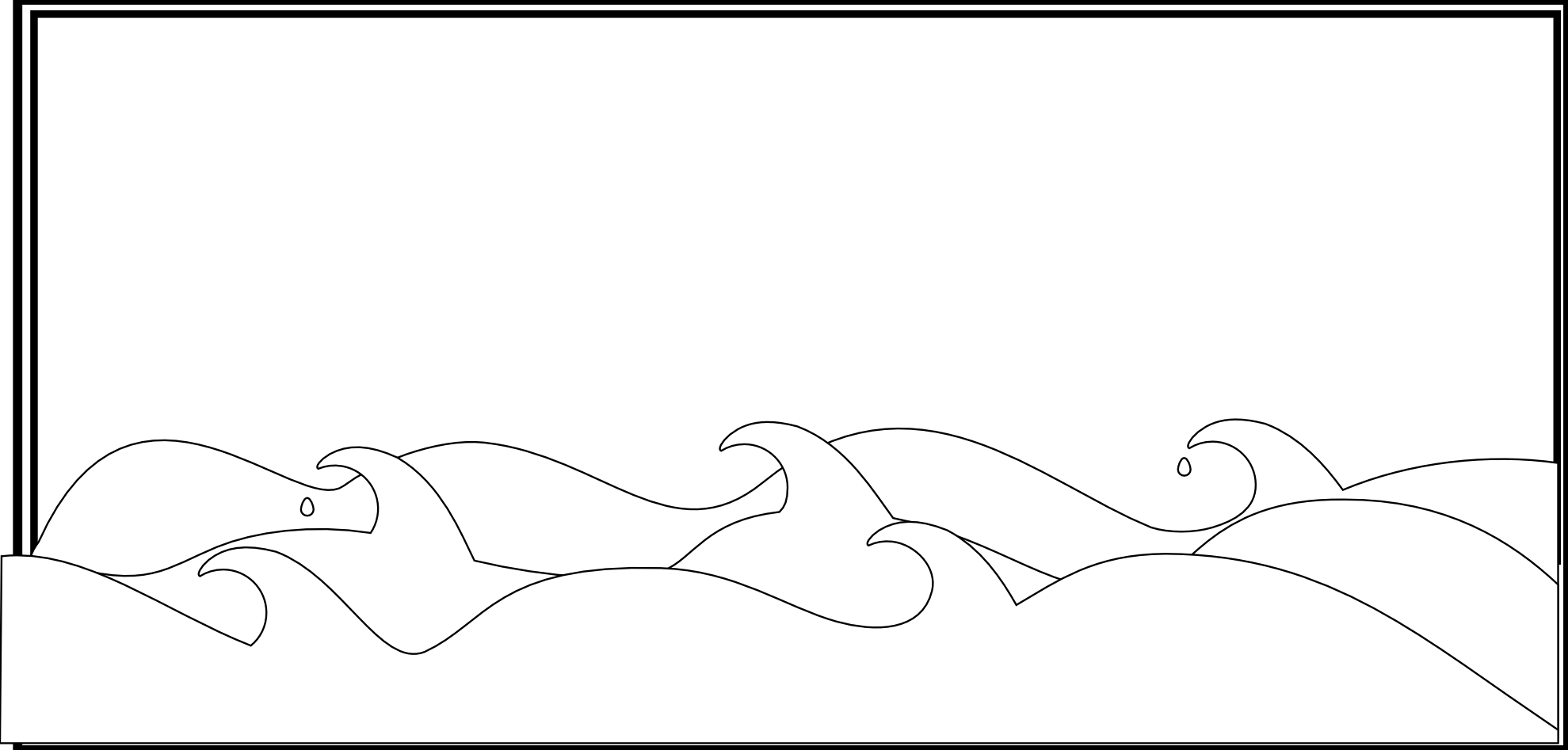 Black And White Wave PNG - 162553