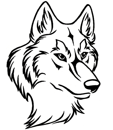 Black And White Wolf PNG - 161843