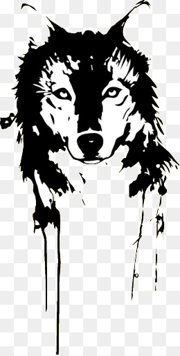 Black And White Wolf Transparent Black And White Wolf Images