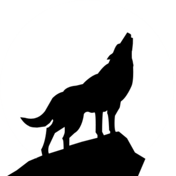 Black And White Wolf PNG - 161861