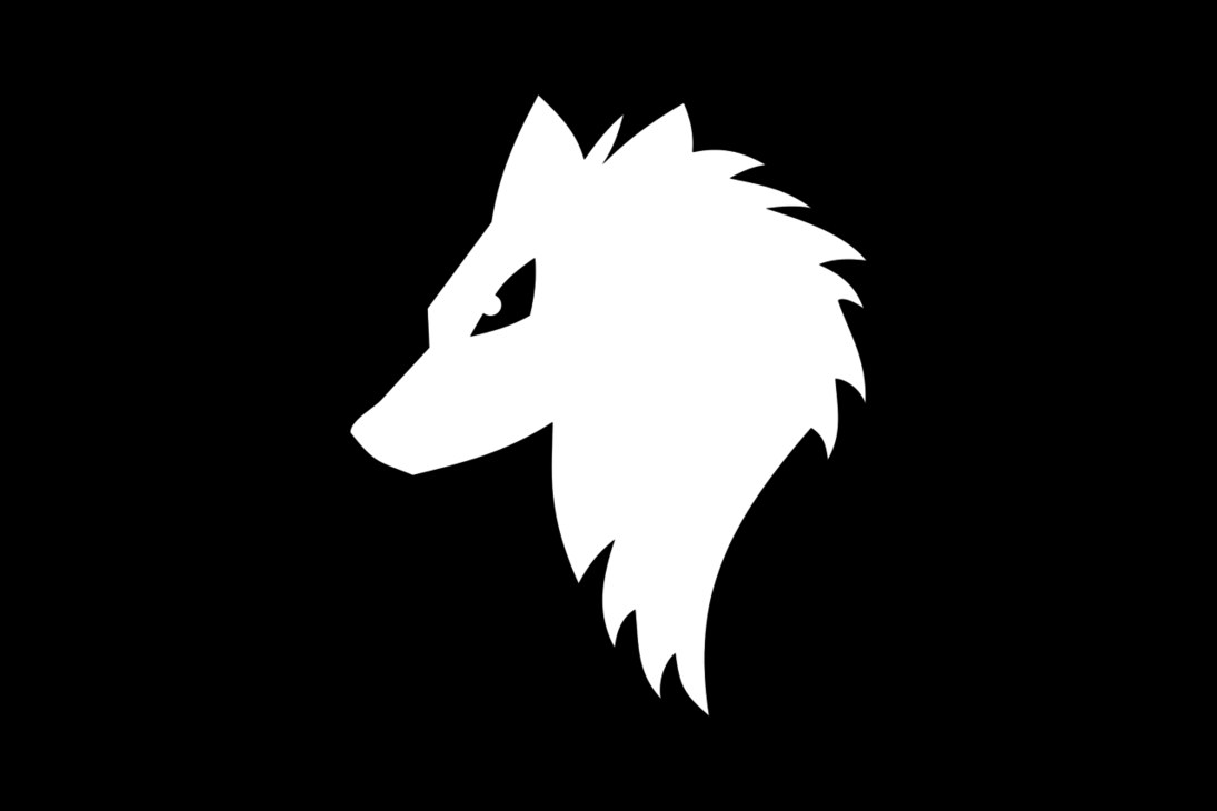 Black And White Wolf PNG - 161860