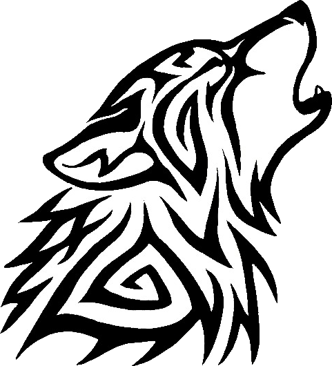 Black And White Wolf PNG - 161845