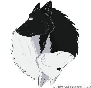 Black And White Wolf PNG - 161853