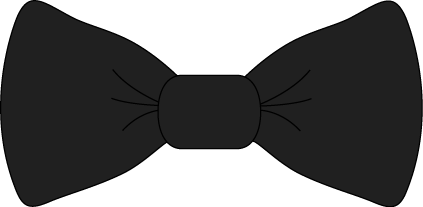 Black bow.png - Black Bow Tie PNG
