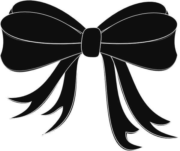 Download This Image As: - Black Bows PNG