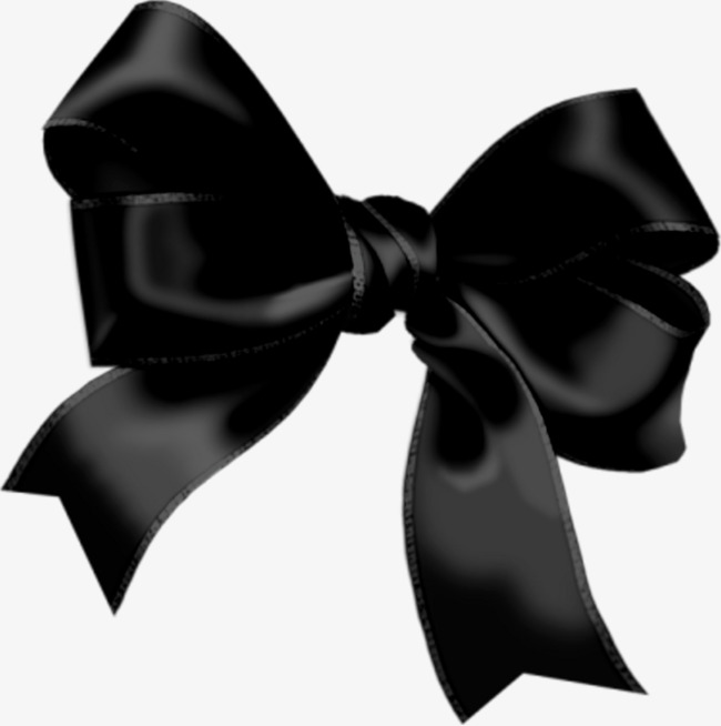 Vector Black Bow, Black Bow, Vector, Hand Painted PNG Image And Clipart - Black Bows PNG