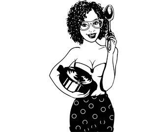 Black Female Chef PNG - 141468
