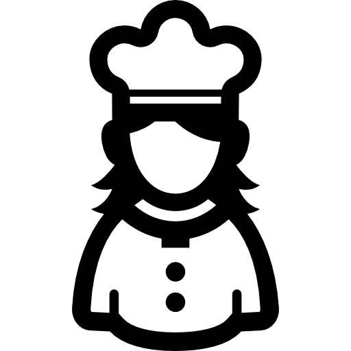 Female chef free icon - Black Female Chef PNG
