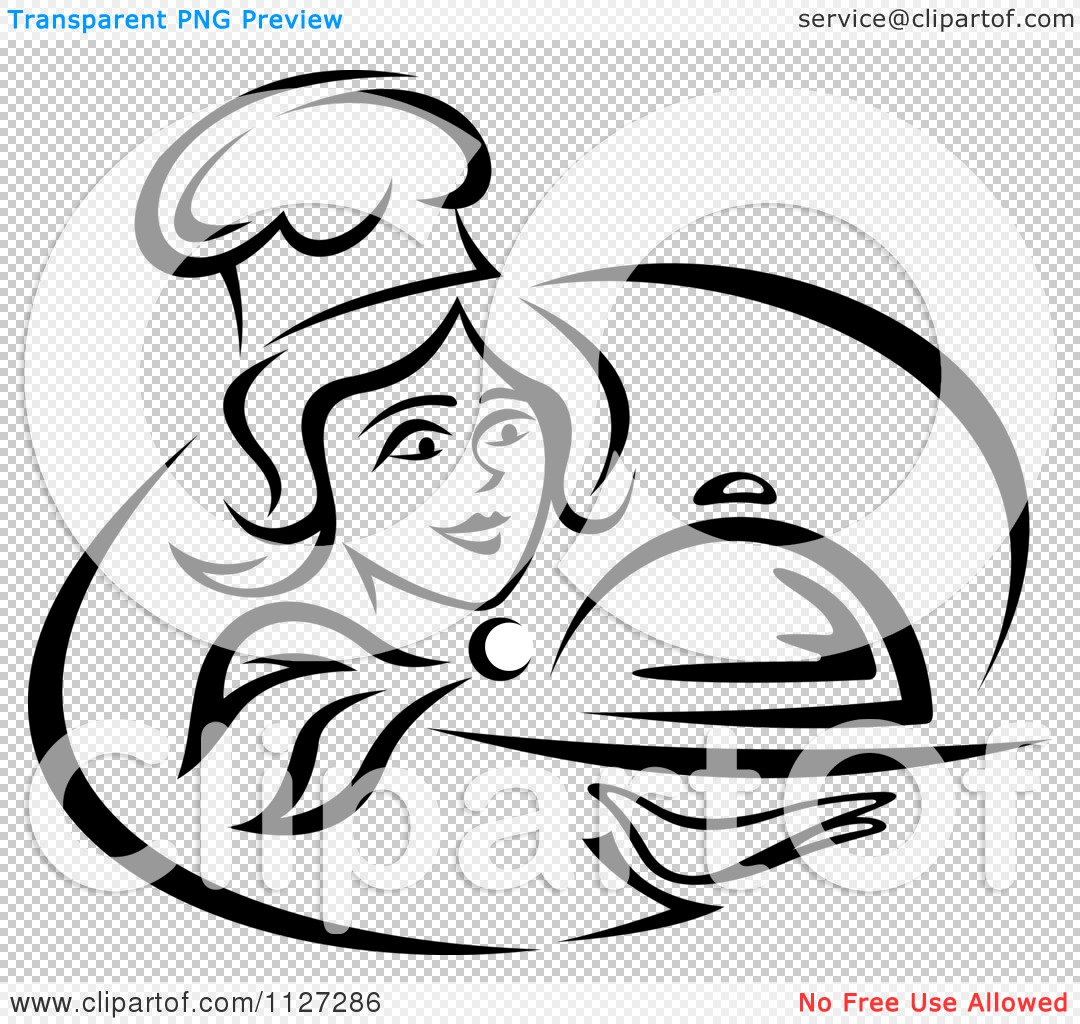 PNG file has a PlusPng.com  - Black Female Chef PNG